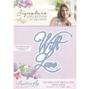 S-BL-MD-WL Sara Davies Signature Collection Butterfly Lullaby - With Love Die